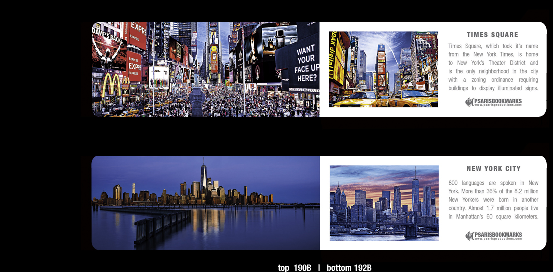 NYC Magnetic Bookmarks | Psaris Productions