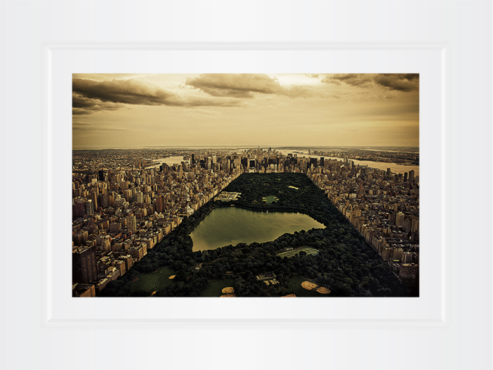New York Notecard Aerial View Central Park Photo © Konstantino Hatzisarros 2013