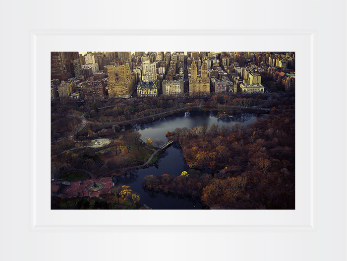 New York Notecard Aerial View Central Park With The Dakota Photo © Konstantino Hatzisarros 2013