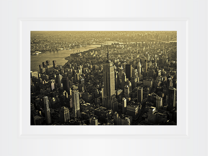 New York Notecard Aerial View Midtown And Empire State Building Photo  © Konstantino Hatzisarros 2013