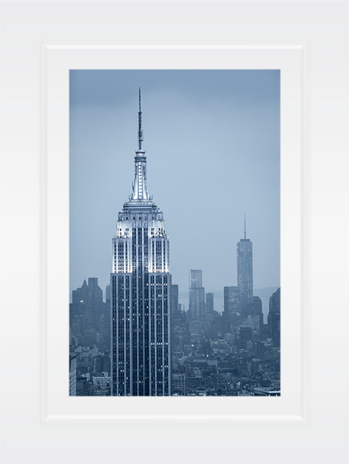 New York Notecard Empire State Building With The Freedom Tower Photo © Konstantino Hatzisarros 2013