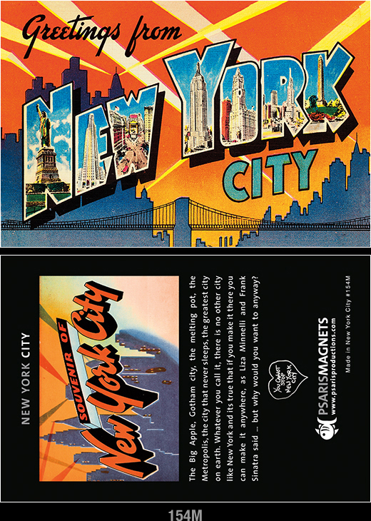New York City refrigerator magnets-Psaris Productions