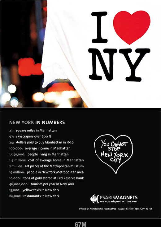 NY Magnets for Refrigerator-Psaris Productions