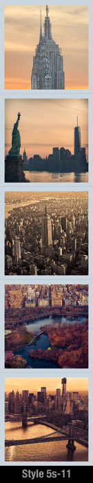 New-York-Fridge-Magnets-Set-of-Five-Magnets | Psaris Productions