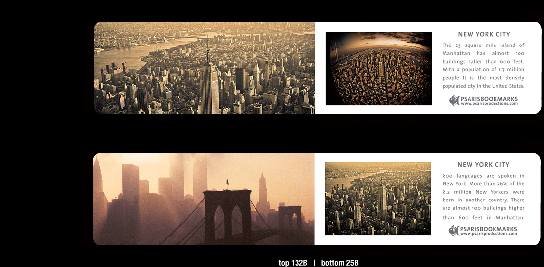 NYC Magnetic Bookmarks – Psaris Productions