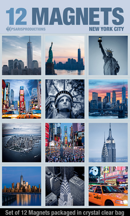 New-York-Magnets-for-refrigerator-set-of-12 | Psaris Productions