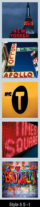 NY Magnet Set for Refrigerator | Psaris Productions