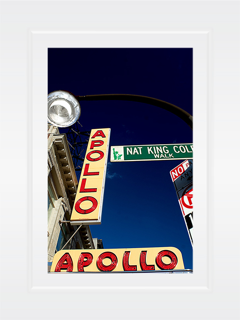 New York Notecard Apollo Theater Harlem Nat King Cole Sign Photo © Konstantino Hatzisarros 2013