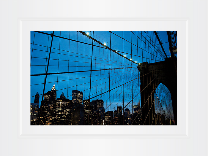New York Notecard Brooklyn Bridge Cables Photo © Konstantino Hatzisarros 2013