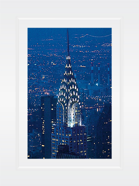 New York Notecard Chrysler Building Night Photo © Konstantino Hatzisarros 2013
