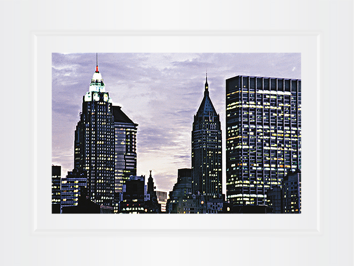 New York Notecard Downtown at Night Photo © Konstantino Hatzisarros 2013
