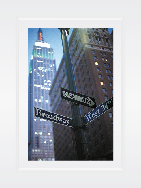 New York Notecard Empire State Building Broadway & 34th Photo © Konstantino Hatzisarros 2013