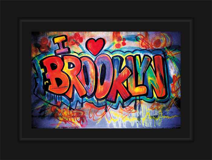 New York Notecard I Love Brooklyn Graffiti Photo © Konstantino Hatzisarros 2013