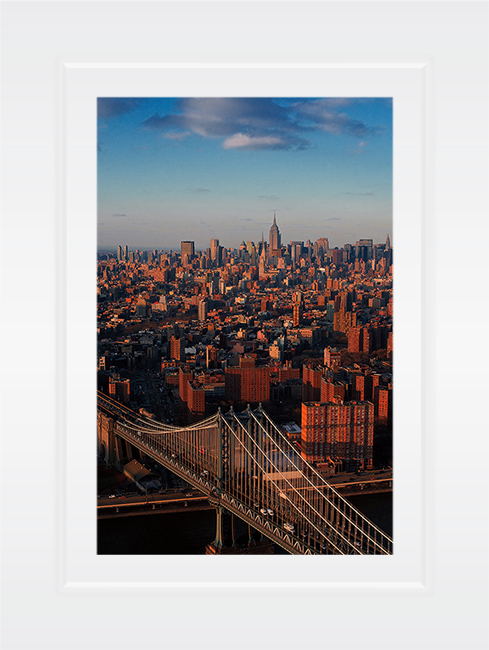 New York Notecard Manhattan Bridge Aerial View Photo © Konstantino Hatzisarros 2013