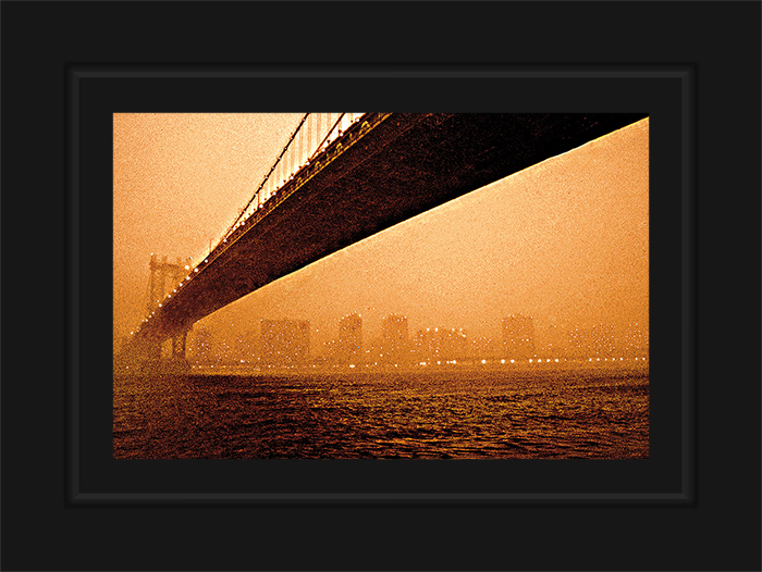 New York Notecard Manhattan Bridge Sepia Photo © Konstantino Hatzisarros 2013