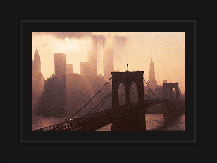 New York Notecard Skyline Brooklyn Bridge & World Trade Center Photo © Konstantino Hatzisarros 2013