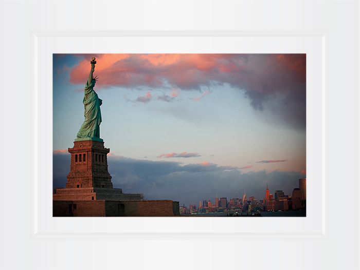 New York Notecard Statue of Liberty Sunset Photo © Konstantino Hatzisarros 2013