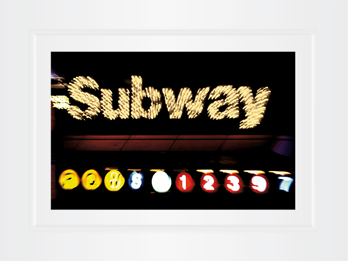 New York Notecard Time Square Subway Sign Photo © Konstantino Hatzisarros 2013