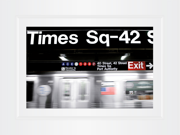 New York Notecard Time Square Subway Station Photo © Konstantino Hatzisarros 2013