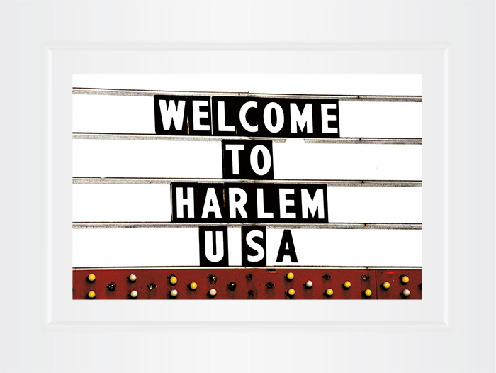 New York Notecard Welcome to Harlem Sign Photo © Konstantino Hatzisarros 2013