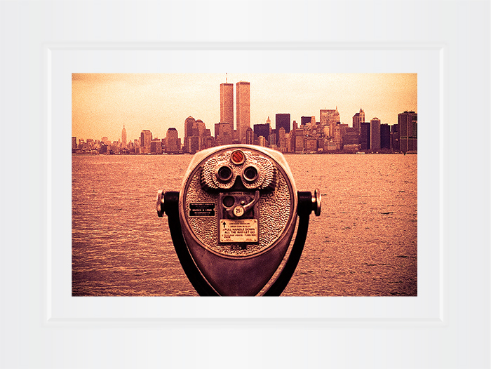 New York Notecard World Trade Center Binoculars Photo © Konstantino Hatzisarros 2013