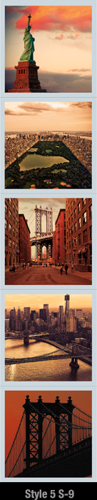 New York Magnet Set for Refrigerator | Psaris Productions