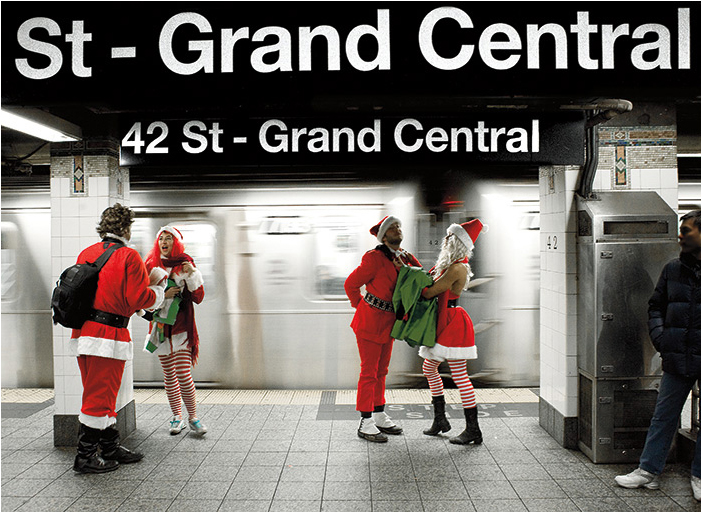 Grand Central Subway Santas New York Holiday Card Photo © konstantino hatzisarros 2013