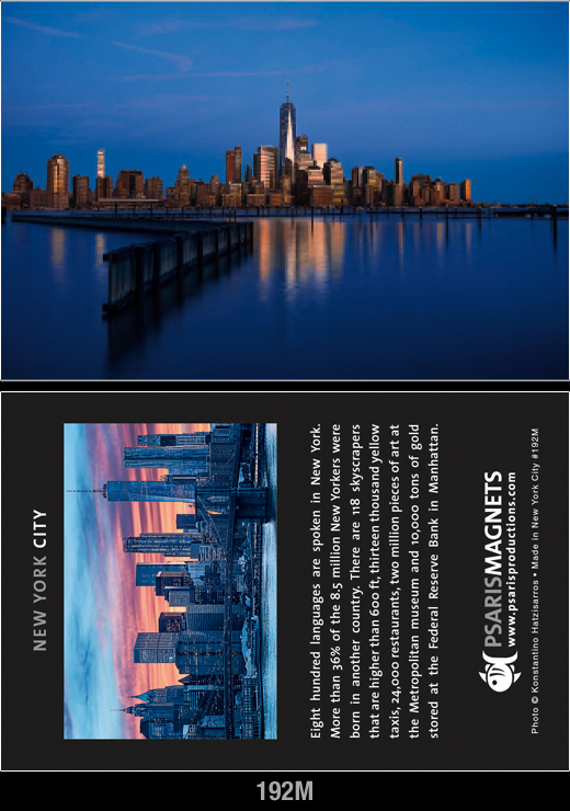 New York Double Sided Fridge Magnets | Psaris Productions