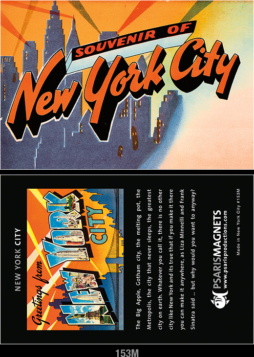 NY refrigerator magnets-Psaris Productions