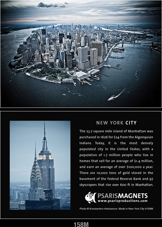 New York City fridge magnets-Psaris Productions